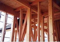 最上級の、ひのき柱を使用、現代4寸角が主流です。
