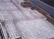 耐震性ベタ基礎の施行状況の全景